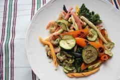 Fusilli med grillede grønnsaker