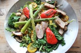 Biffsalat med asparges